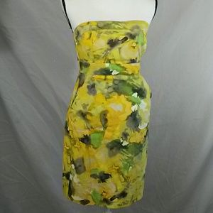 Sleeveless watercolors dress with pockets size 4